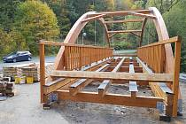 Nový most, který překlene řeku Svatavu