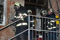 Požár bytu v Oloví na Kraslicku