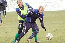Trénink sokolovských fotbalistů před utkáním s Vlašimí