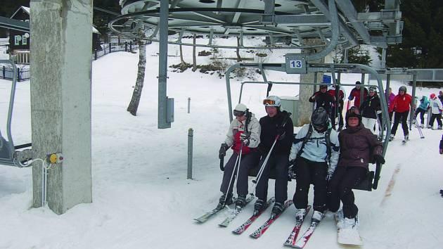 Skiareál v Bublavě.