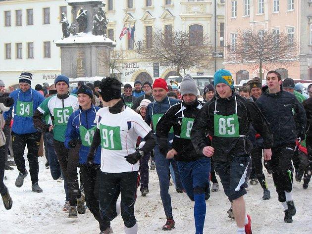 Novoroční běh okolo Lokte.