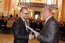 Slavnostní předávání výučních listů absolventům ISŠTE.