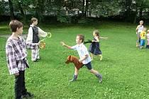 SOUČÁSTÍ AKCE byla řada veselých soutěží a her, při nichž se děti skvěle bavily.