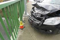 Místo nehody.