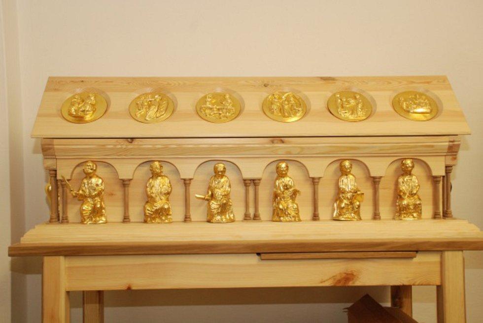 Haptický model relikviáře sv. Maura.