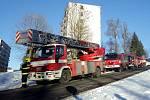 Zásah hasičů v Rovné.