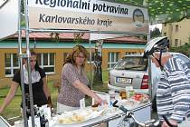 Farmářské trhy v Kynšperku nad Ohří.