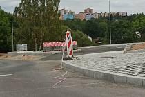 Stavba nové okružní křižovatky