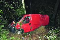 Z hrůzně vypadající nehody vyvázl řidič bez zranění.
