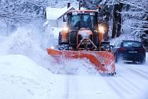 Sokolovsko zasáhly další přívaly sněhu.