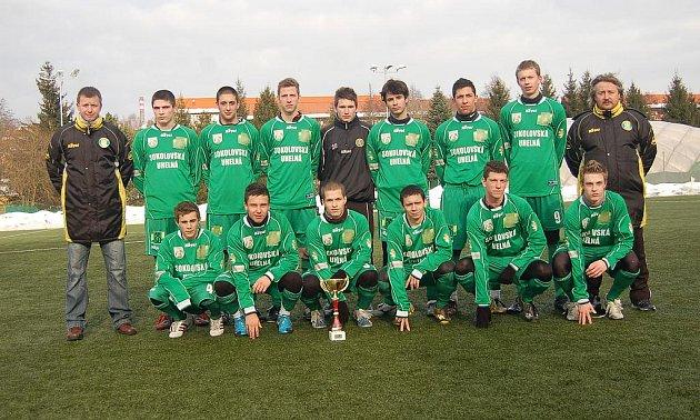 Vítězné družstvo zimního turnaje, A - dorost FK Baník Sokolov