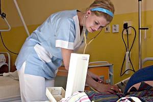 Jedno z lůžkových oddělení nemocnice.