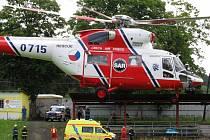 Helikoptéra záchranářů bude přistávat i v Sokolově