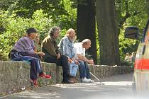 Bezdomovci v Sokolově.