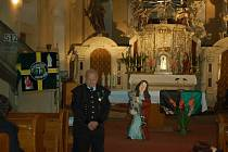 Patron horníků, socha svaté Barbory ,  se v sobotu dočkala v chodovském kostele vysvěcení