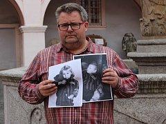 Druhá objevená fotka (vpravo) pochází z tábora v Mauthausenu a zachycuje podle ředitele Runda tutéž holčičku.