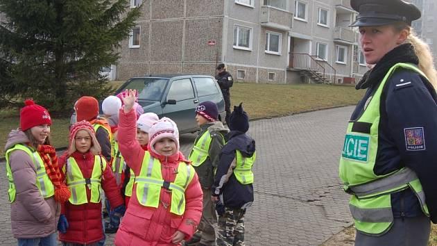 Děti si zahrály na strážce pořádku.