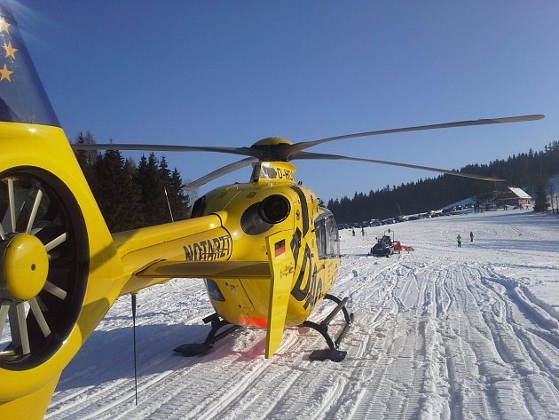 Nehoda lyžařů v Bublavě