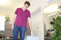Do Evropského parlamentu volil devatenáctiletý student Lukáš Cichocki z Kraslic poprvé