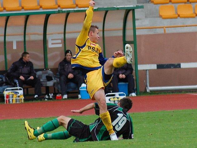 Utkání 12. kola druhé fotbalové ligy FK Baník Sokolov – FC Vysočina Jihlava 5:1 (2:1)