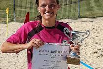 Mistrovství České republiky v plážovém fotbale žen na koupališti Michal v Sokolově