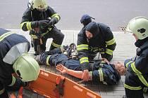 Zásah hasičů v Chodově.
