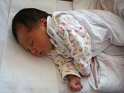 Terezka Rehová z Oloví při narození měřila 51 cm a vážila 3,320 kg.