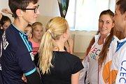 Sportování s olympionikem v Lomnici
