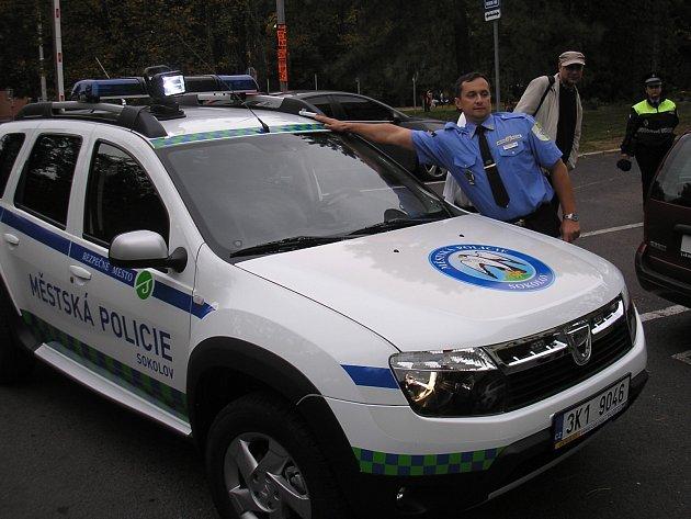 Velitel sokolovských strážníků Petr Kubis