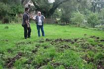 Jedna ze zničených zahrad v Nadlesí. Podobné situace se opakují každý rok.