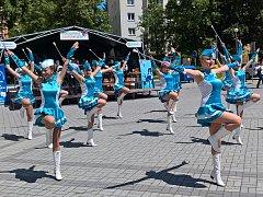 Do Sokolova na Staré náměstí zavítal i polský soubor mažoretek OSP Krasocin, účastník  festivalu FIJO 2016.