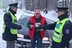 Policejní kontrola v Kraslicích.