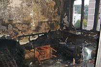 V Kraslicích hořel byt panelového domu. Kdo ho založil se zatím neví.