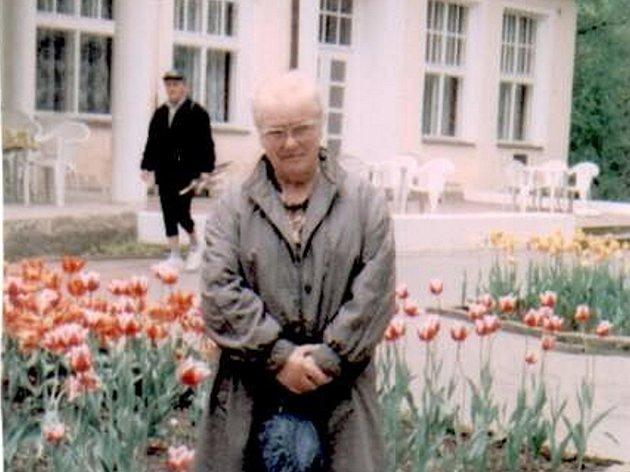Pohřešovaná Věra Frasunková.