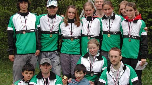 Orientační běžci Baníku Sokolov.