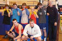 Boxeři Baníku Sokolov.