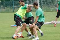 Příprava sokolovských fotbalistů v Královském Poříčí