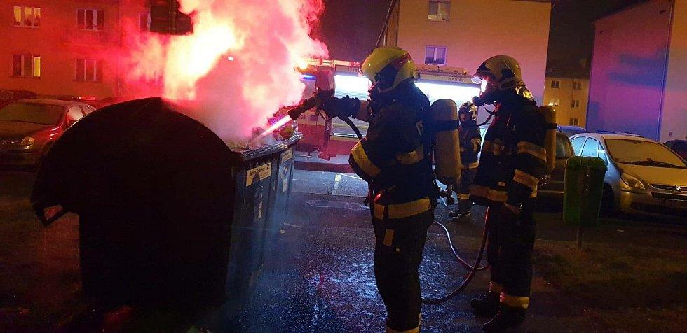 Zásahy hasičů.