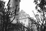 Fotografie z hradního archivu ukazují stav po ničivých úmyslných požárech i to, jak Bedřich Loos se stovkami dobrovolníků vrací hrad do života.