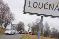 Záchranáři pátrají u obce Loučná na Kraslicku po ztraceném muži.