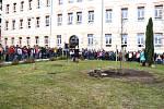 Školáci vysadili Lípu republiky.