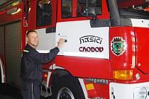 Velitel SDH Chodov Jiří Kiss.