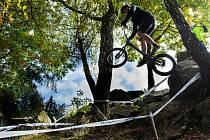 Jednou z mnoha akcí, za kterou míří návštěvníci do Březové, je biketrial.