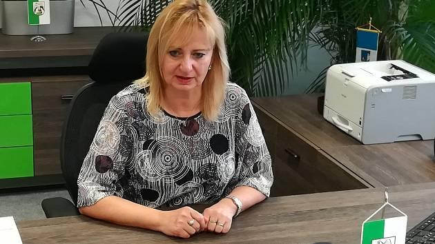 Renata Oulehlová na sokolovské radnici