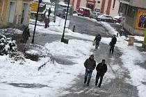 Sněhová kalamita na Sokolovsku.