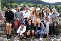 NA BERGFRITU bečovského hradu. Sem se návštěvníci běžně nedostanou. Magické útrobu gotického hradu přinesly fotografům spoustu inspirace.