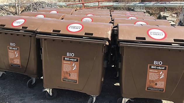Kontejnery na bioodpad. Ilustrační foto.