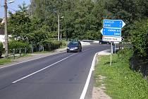 Křižovatka v Černém Mlýně