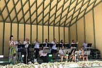Barbora Řeháčková a Kraslický zábavní orchestrna festivalu v Bad Elsteru.