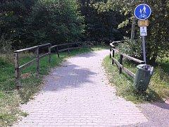 Pěší stezka k hranicím v Kraslicích.